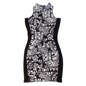 River Island Bodycon Illusion Sleeveless Dress